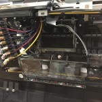Preparing to soak the Epson 9800 print head in Piezoflush cleaning solution