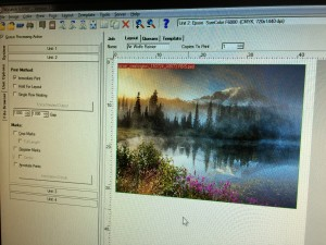 Art Wolfe - Mt. Rainier in the print queue