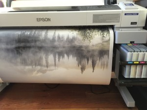 Art Wolfe - Mt. Rainier printing on the Epson dye sub printer