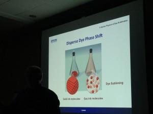 Mark Trimble explaining Dye Sublimation - the Disperse Dye Phase Shift