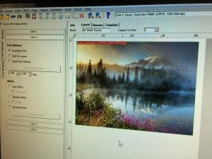Art Wolfe - Mt. Rainier in the print queue