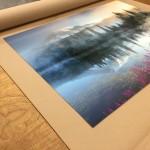 Art Wolfe, Mt. Rainier print on metal
